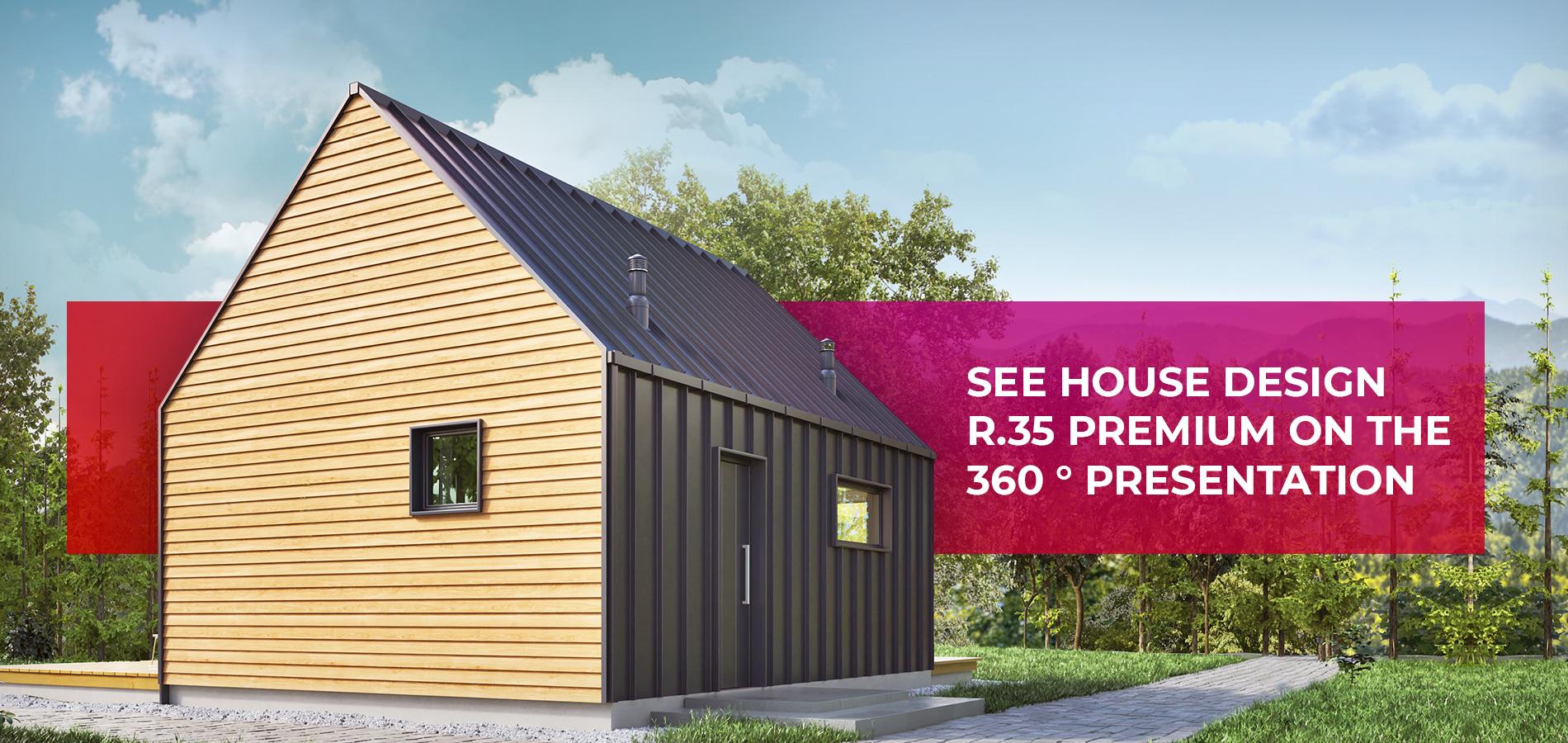 See house design R.35 Premium on the 360 ° presentation
